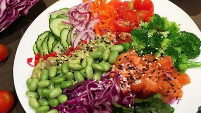 "Recipe:&nbsp;<a href=""http://kitchen.nine.com.au/2017/06/01/17/04/the-nude-nutritionist-salmon-poke-bowl"" target=""_top"">The Nude Nutritionist's salmon poke bowl</a>"