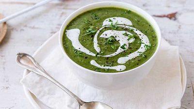 "Recipe: <a href=""http://kitchen.nine.com.au/2017/05/26/11/30/supergreens-soup"" target=""_top"">Supergreens soup</a>"