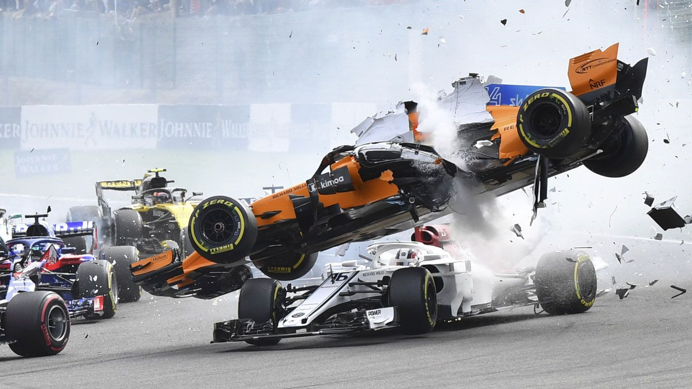 Leclerc thankful for 'halo' after F1 smash