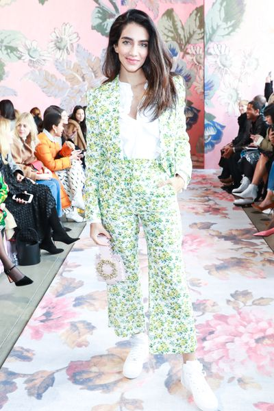 Australian model and blogger Jessica Kahawaty at Zimmermann's A/W '18 show in New York City