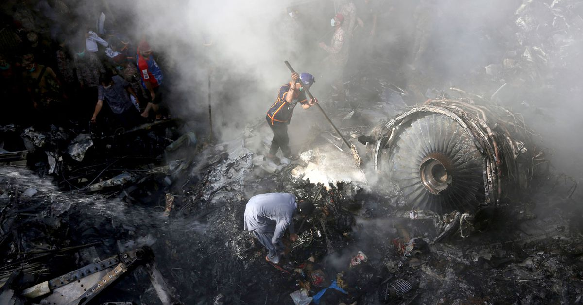 Pakistan Airlines plane crash: At least two of the 98 on board survive ...