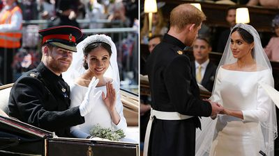Harry and Meghan's wedding day in pictures