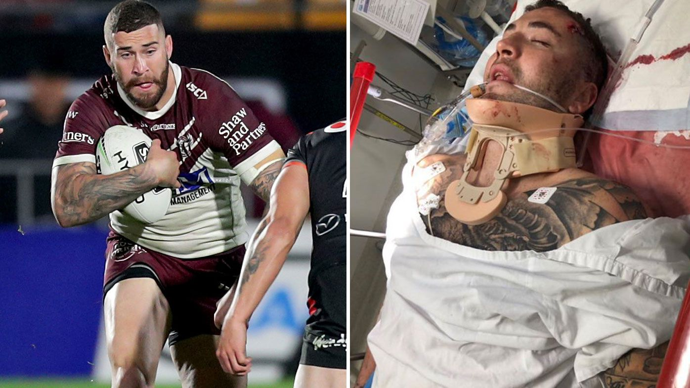 Manly star Joel Thompson hospitalised after 'real bad accident'