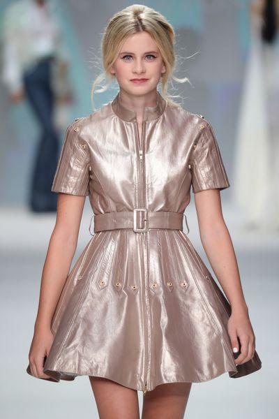 Mason Grammer, 15, daughter of Kelsey Grammer, on the runway forMalan Breton at New York Fashion Week September 2017.
