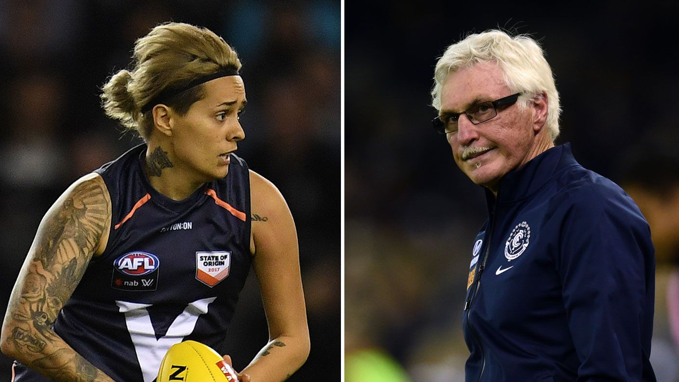 Moana Hope (left) and Mick Malthouse