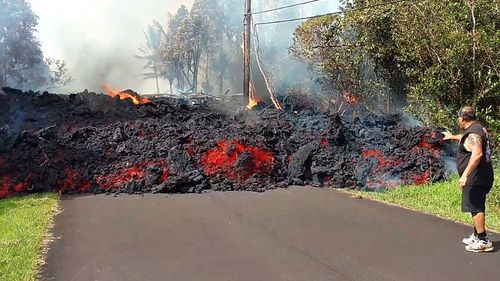 There are 12 lava-producing fissures in Leilani Estates, but the flow of lava is not constant.