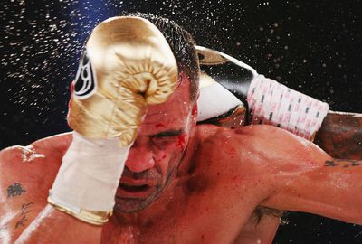 <b>Anthony Mundine is contemplating retirement after a crushing loss in his WBC Silver super welterweight title fight to American Charles Hartley.</b><br/><br/>The fight was stopped in the 11th round just as Mundine's father Tony threw in the towel at the Melbourne Convention Centre, handing Hatley a one-sided TKO victory.<br/><br/>Hatley will now likely fight for the world championship vacated by Floyd Mayweather Jr.