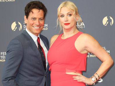 Ioan Gruffudd and Alice Evans at the Monte Carlo TV Festival in 2018.