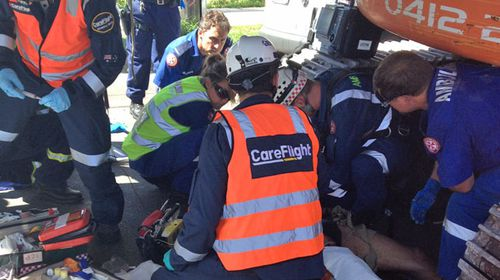 Man has leg torn off in Sydney construction accident