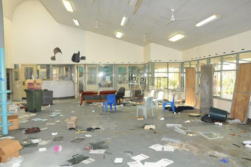 Prison facilities trashed after the escape. Picture: WA Police
