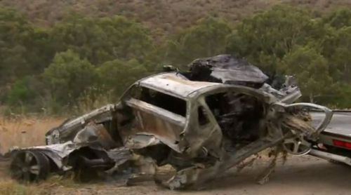The ute careened off the EJ Whitten bridge. (9NEWS)