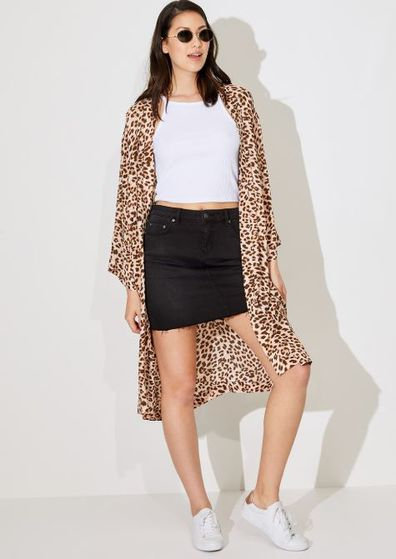 Sportsgirl Leopard kimono, $99.95