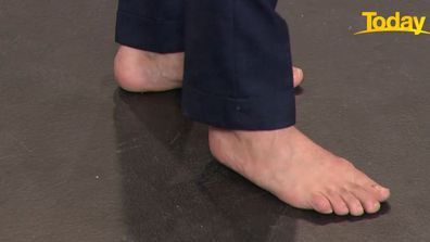 Today host Karl Stefanovic has been caught out not wearing shoes whilst on set on several occasions.