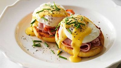 "3.) Hollandaise sauce -&nbsp;<a href=""https://kitchen.nine.com.au/2016/05/16/11/51/eggs-benedict-with-hollandaise-sauce"" target=""_top"">Eggs Benedict with Hollandaise sauce</a>"