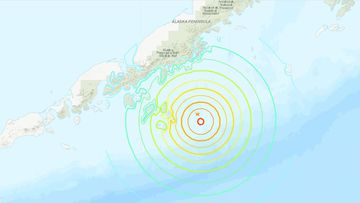 A tsunami warning was issued for South Alaska, the Alaska Peninsula and the Aleutian Islands.