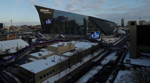 The Super Bowl is being held at US Bank Stadium in Minneapolis. (AAP)