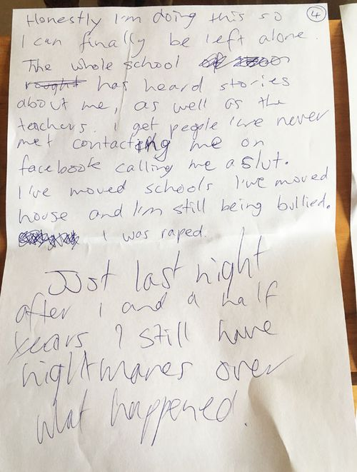 The letter was recently discovered by Linda Trevan as she packed up her daughter's belongings.