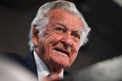 """Bob Hawke was hospitalised on Monday for what his wife has described as a case of """"the wobbles"""". (9NEWS)"""
