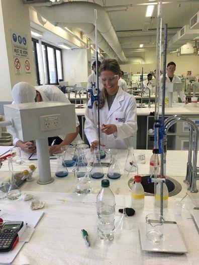 Melissa environmental engineer lab work