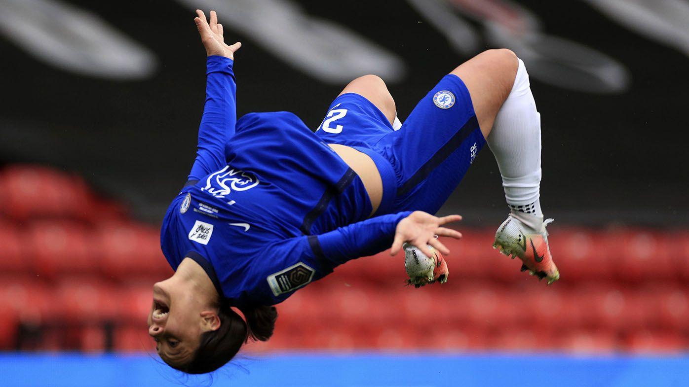 Sam Kerr scores hat-trick as Chelsea romp to League Cup final win over Bristol City