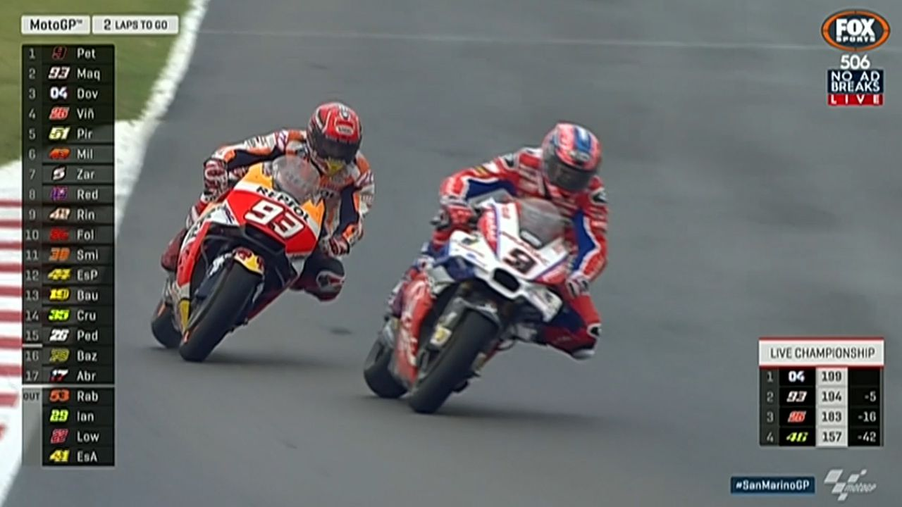 Marquez leaves it to last lap in San Marino MotoGP