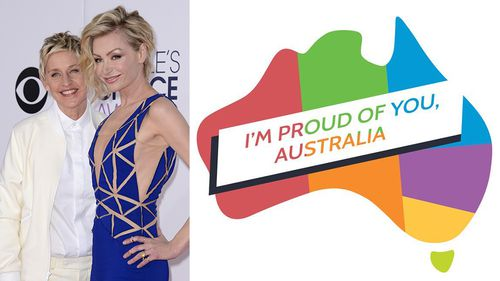 """It's a g'day. Way to go Australia. #MarriageEquality"" - Ellen DeGeneres"