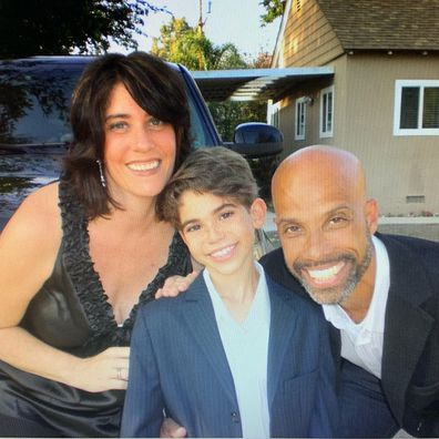 Cameron Boyce with his parents Victor Boyce and Libby Boyce.