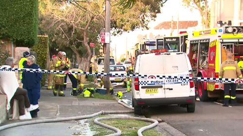 Investigators remain on the scene. Picture: 9NEWS
