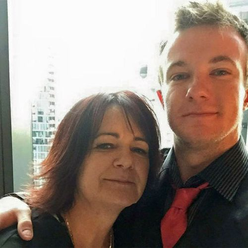 Danny Westwood with his mother Karen Triffett.
