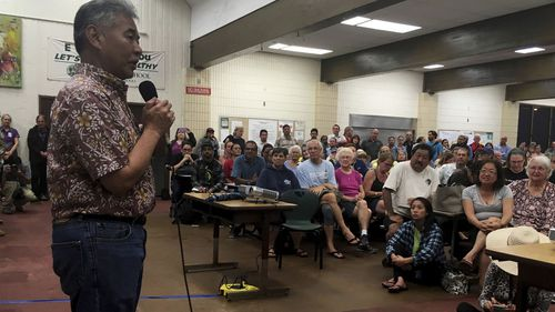 Hawaii Gov. David Ige told evacuees he has called the White House and the Federal Emergency Management Agency to tell officials that he believes the state will need help to deal with the volcano on the Big Island.
