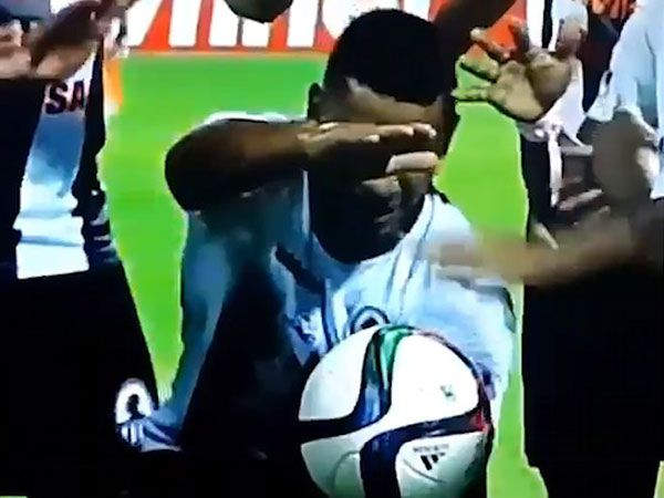 Footballer stuns with magical celebration