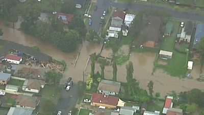 """I must stress, as we approach the next 24 hours, please do not enter flood waters,"" NSW Premier Mike Baird said. (9NEWS)"