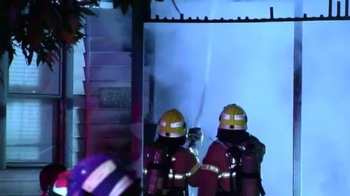 Investigators are now working to determine the cause of the fire. Police want to speak to this person. Picture: 9NEWS