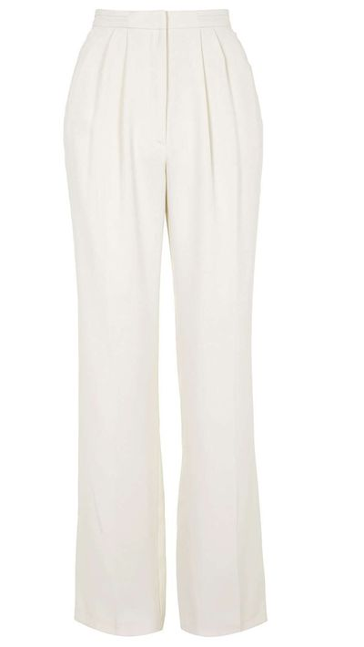 "<a href=""http://www.topshop.com/en/tsuk/product/clothing-427/trousers-leggings-4075710/neat-pleat-wide-leg-trousers-4451816?bi=1&amp;ps=200"" target=""_blank"">Neat Pleat Wide Leg Trousers, $92 approx, Topshop</a>"