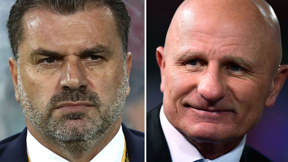 NRL legend Peter Sterling slams Socceroos coach Ange Postecoglou as precious for dogging questions on his future