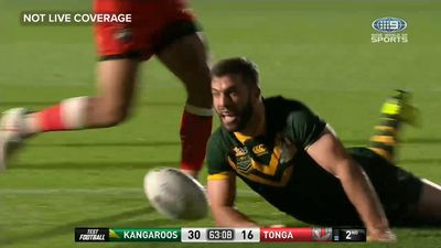 Tonga fightback falls short against Kangaroos in historic rugby league Test match