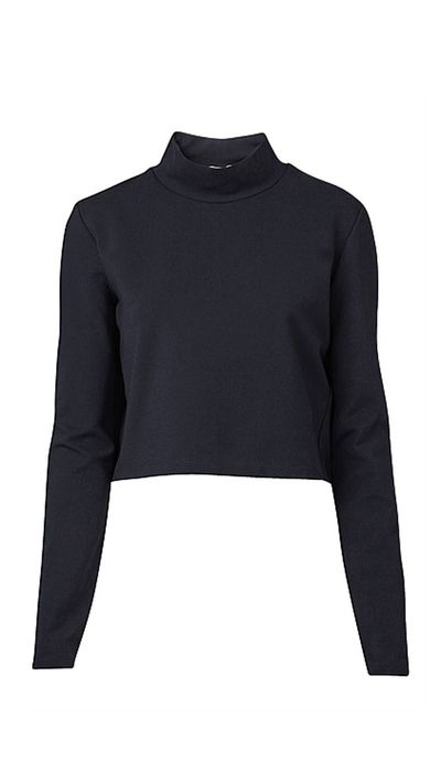 "<a href=""http://www.witchery.com.au/shop/woman/clothing/new-in/cropped-high-neck-top-60180526"">Cropped High Neck Top, $69.95, Witchery</a>"