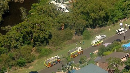 Several NSW Ambulance crews rushed to the scene to assist the man.