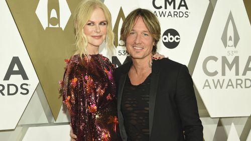 Nicole Kidman and Keith Urban arrive at the 53rd annual CMA Awards at Bridgestone Arena on Wednesday, Nov. 13, 2019, in Nashville, Tenn