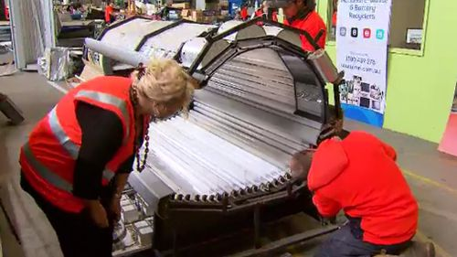The solariums were dismantled in Melbourne's north. (9NEWS)
