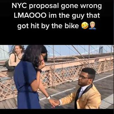 Proposal on famous bridge gets literally 'crashed' by public