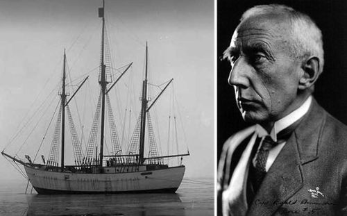 Norwegian explorer Roald Amundsen tried to reach the North Pole in the Maud.