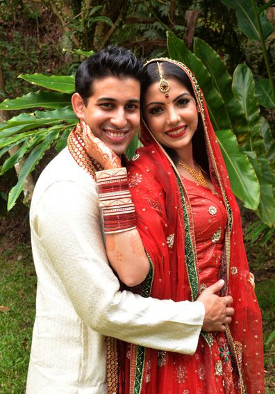 My wedding day: Bride Dyasmin Dream Sandhu wears three  dresses