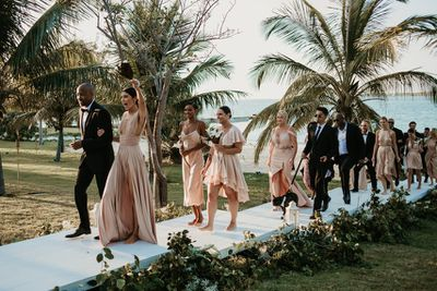 Shanina Shaik and Greg Andrews' bridal party