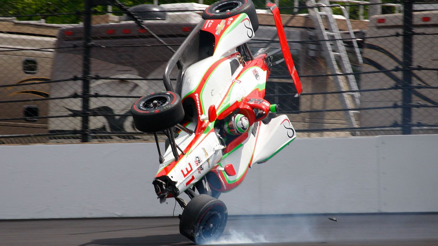 Patricio O'Ward walked away from a horror crash during Indy500 practice.
