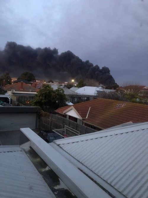 Flames are visible from the other side of the city. This is the view from Tottenham.