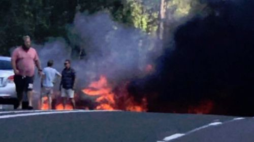 The crash took place near Tiaro, Queensland, on Easter Long Weekend last year.