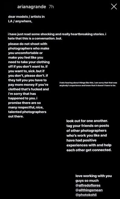 Sunnaya Instagram message to photographer Marcus Hyde