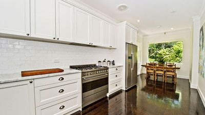 The kitchen is large enough to accommodate a whole team of hospitality staff. (Supplied, Laing and Simmons)