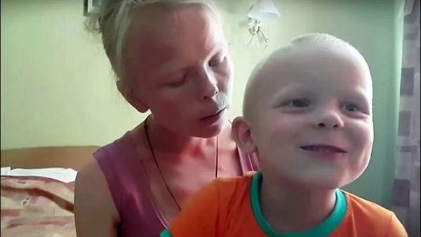 Svetlana Maximova and son Artem